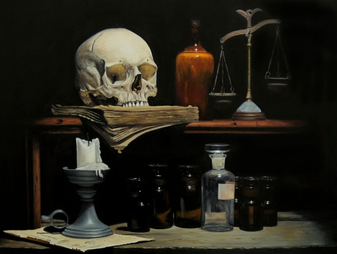 Title Repository For Souls Medium Oil Size 60x80 cm