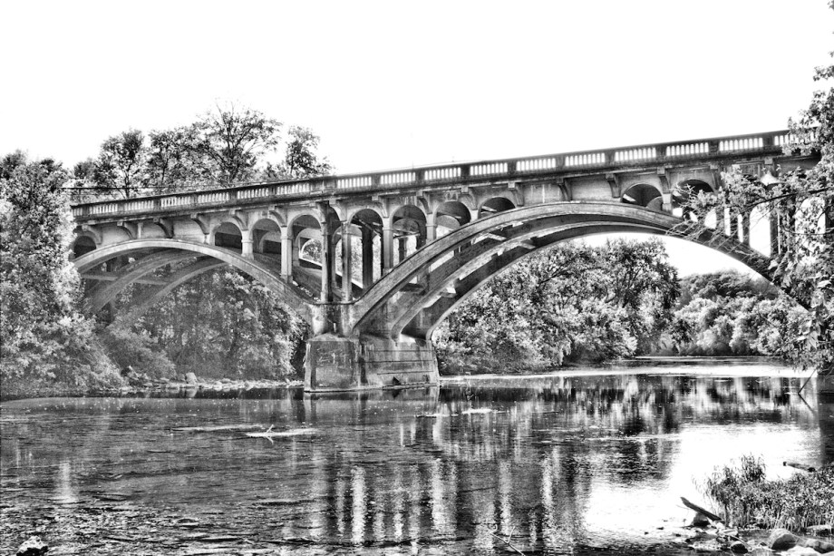 Title Arched Bridge Medium Photography Size 16x20