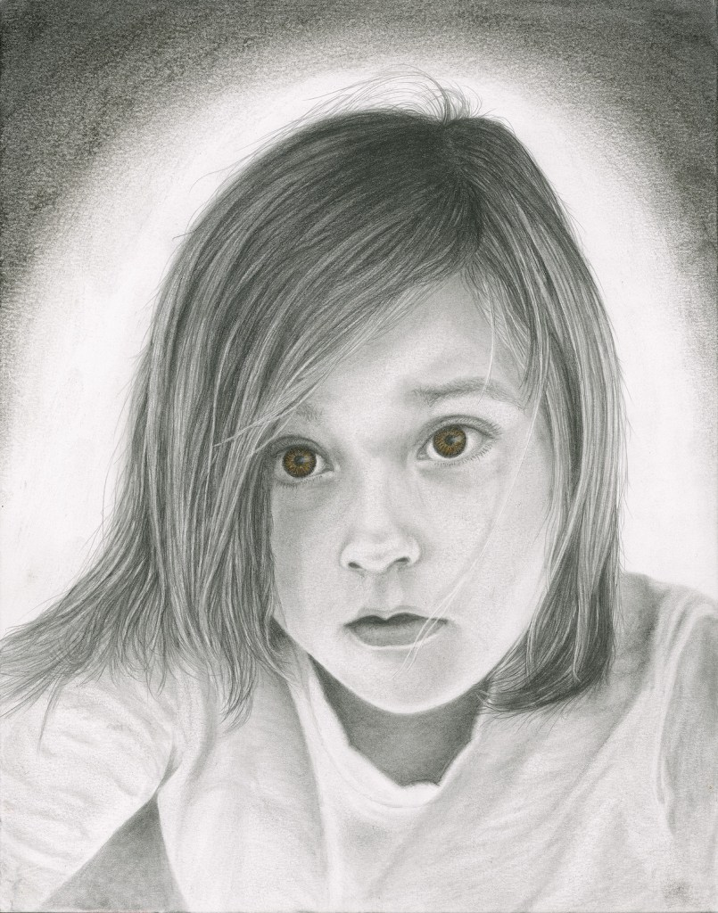 Title Little Girl Medium Pencil Size 11 x 14
