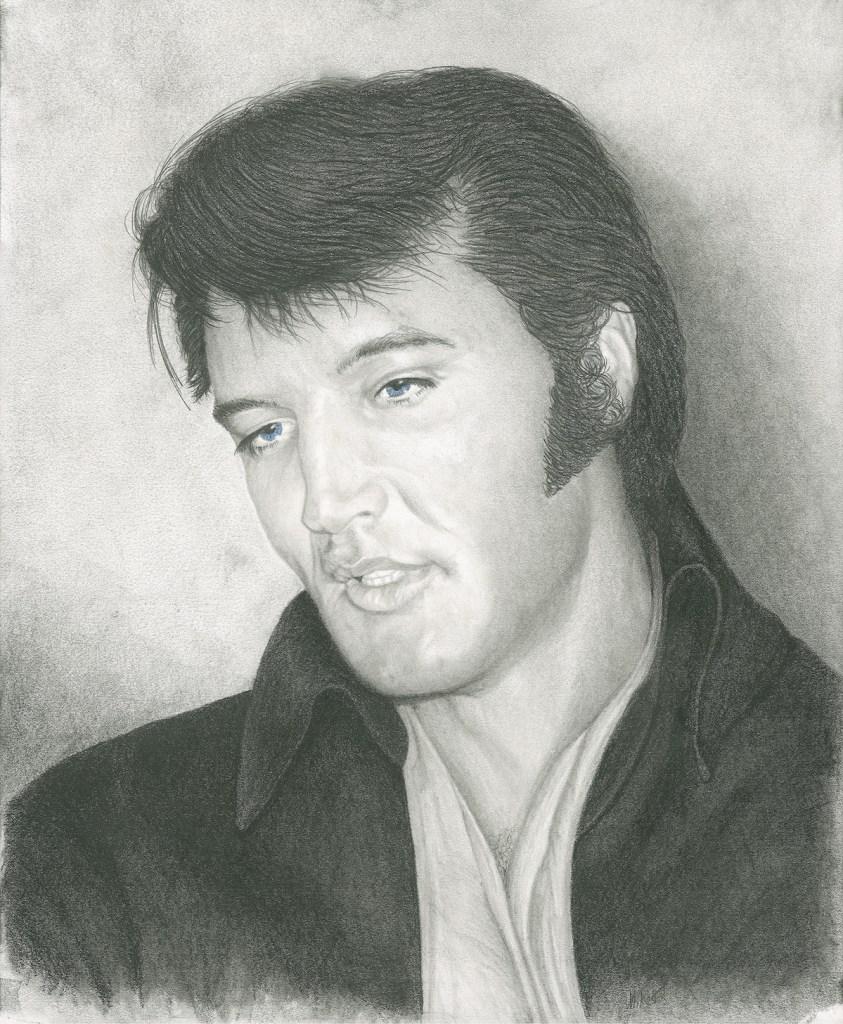 Title Elvis Medium Pencil Size 14 x 17