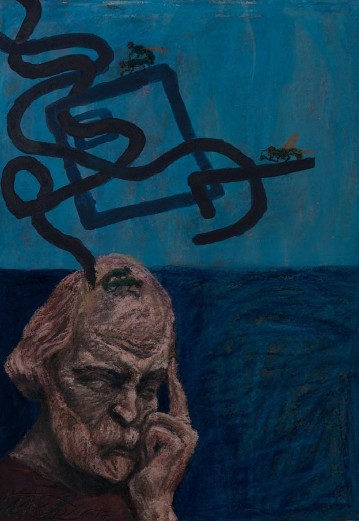Title FREEDOM (Plato) Medium Pastel on paper Size 30x20 cm
