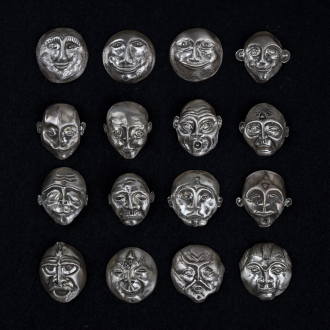 Title Traces of Humanity Medium sculpture, silver repousse Size 12 x 12 x 1.5