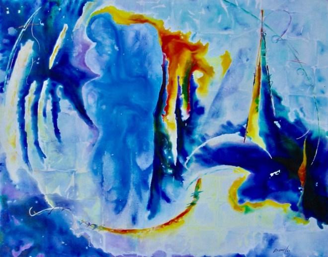 """Title KISS Medium Acrylic on canvas Size 60"""" x 48"""""""