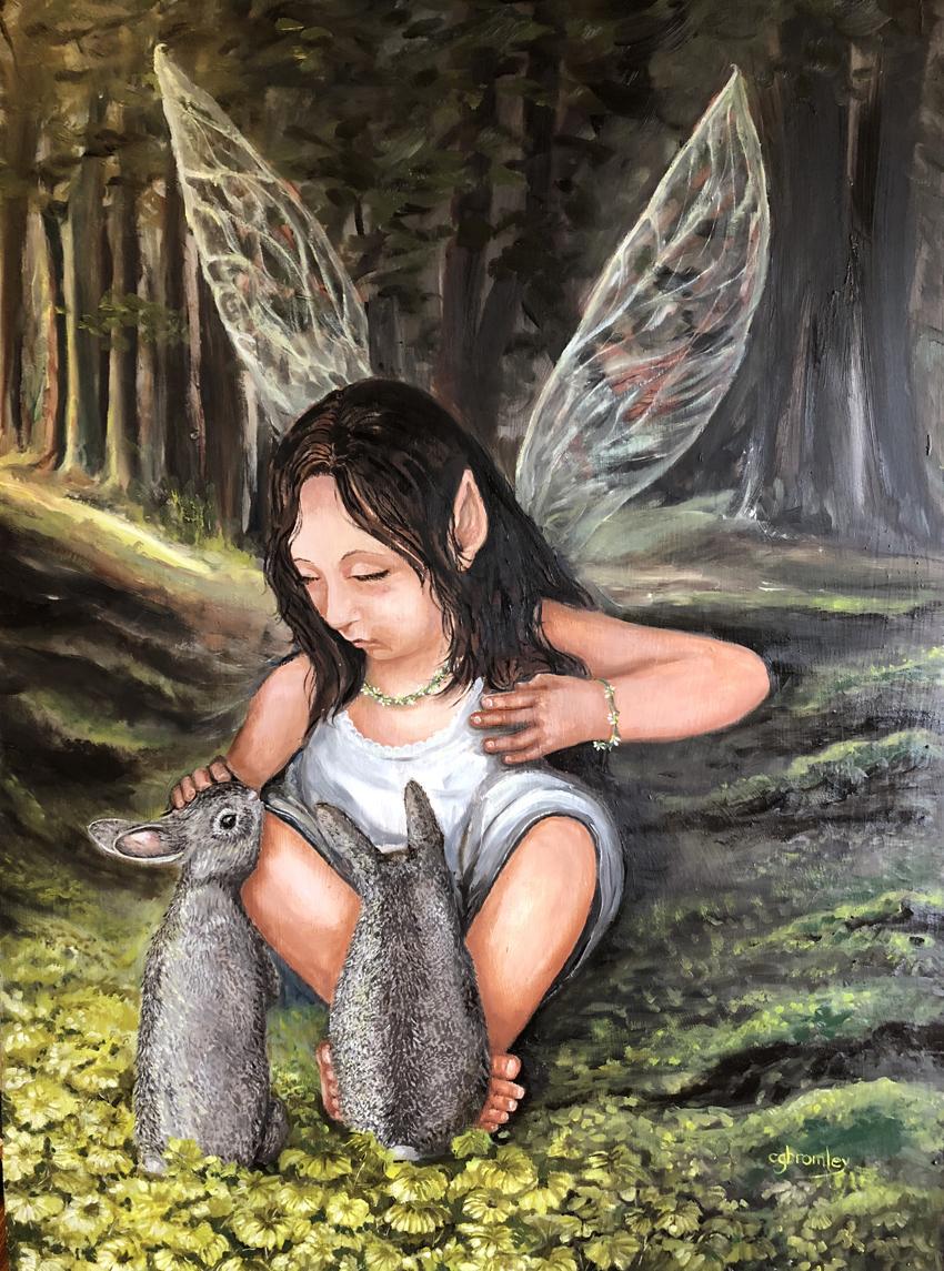 """Title Sylvie's Forest Medium Oil on panel Size 25"""" x 37"""""""