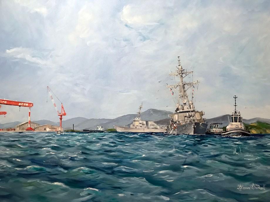 Title 7th Fleet Requiem Medium Oil on Canvas Size 48x60