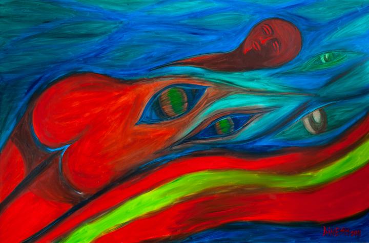 Title Sexual fantasy Medium oil on canvas Size 48x72