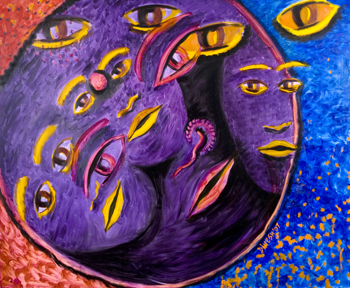 Title Family life cycle Medium oil on canvas Size 60x72
