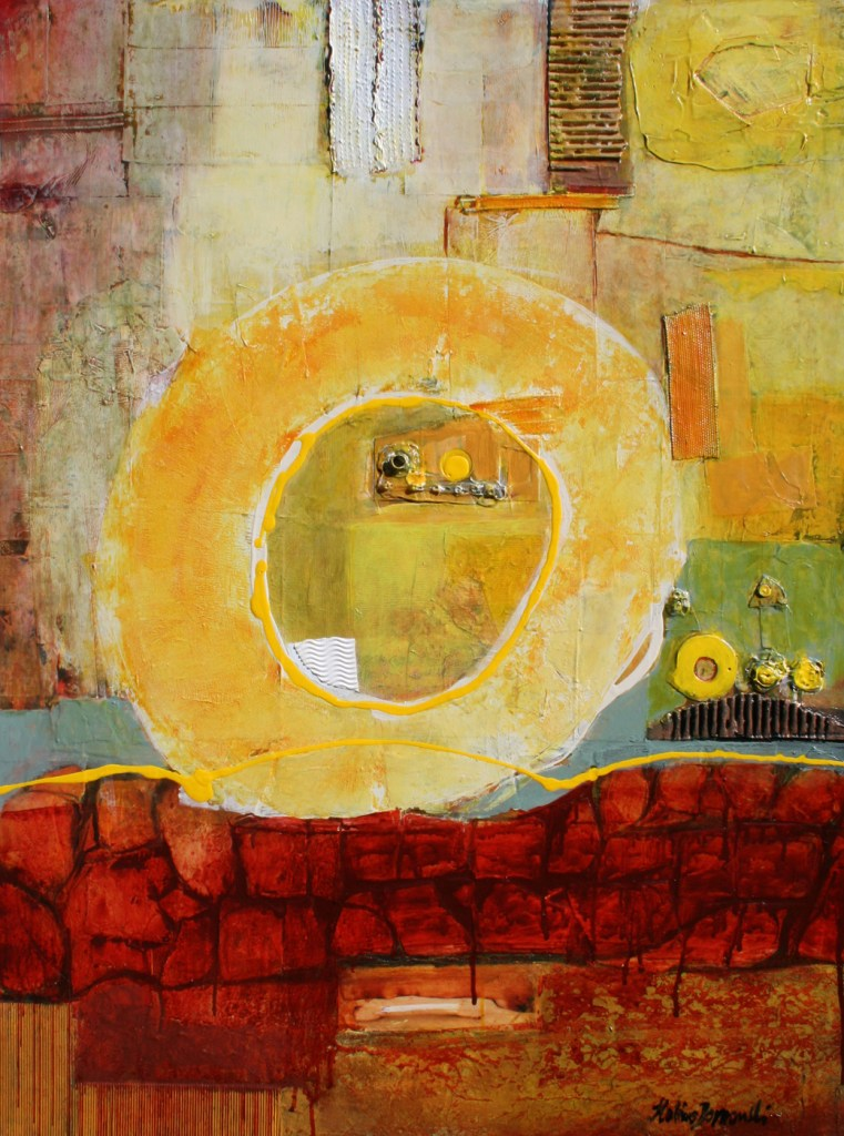 "Title Escaping from tunnels Medium Mixed media on canvas Size 40""x30""x1.5"""