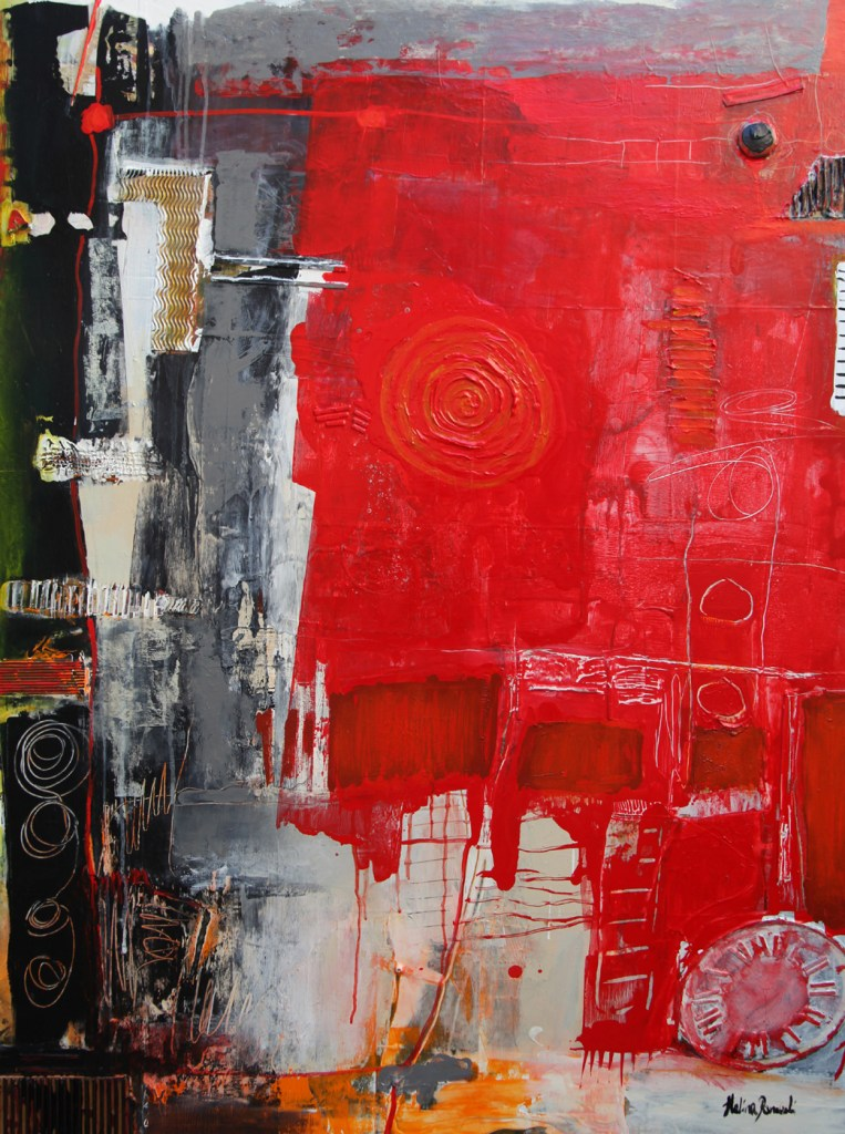 """Title Unlimited Love Medium Mixed media on canvas Size 38""""x36""""x1.5"""""""
