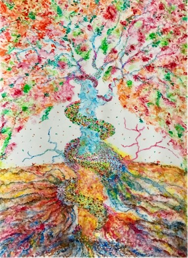 Title Tree of Life Medium Watercolor & Pen on Paper Size 15*12