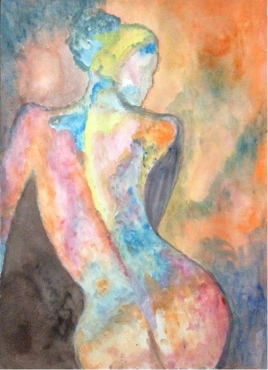 Title Back to the World Medium Watercolor on Paper Size 15*12