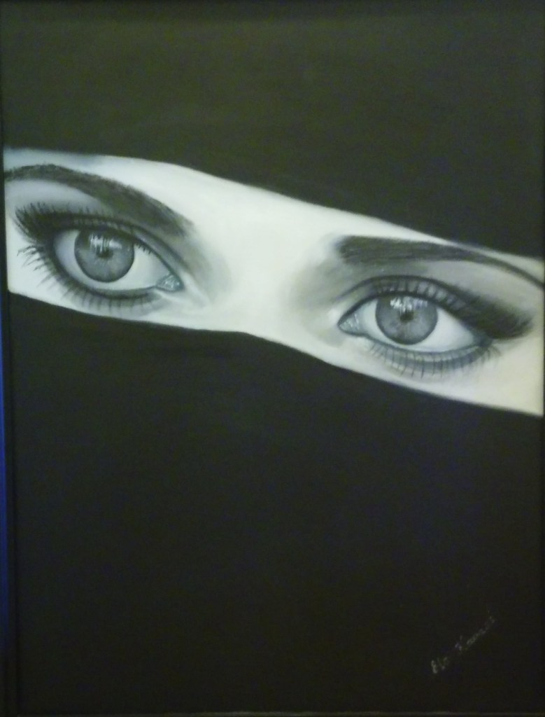 Title Eyes Medium Oil Size 28x47