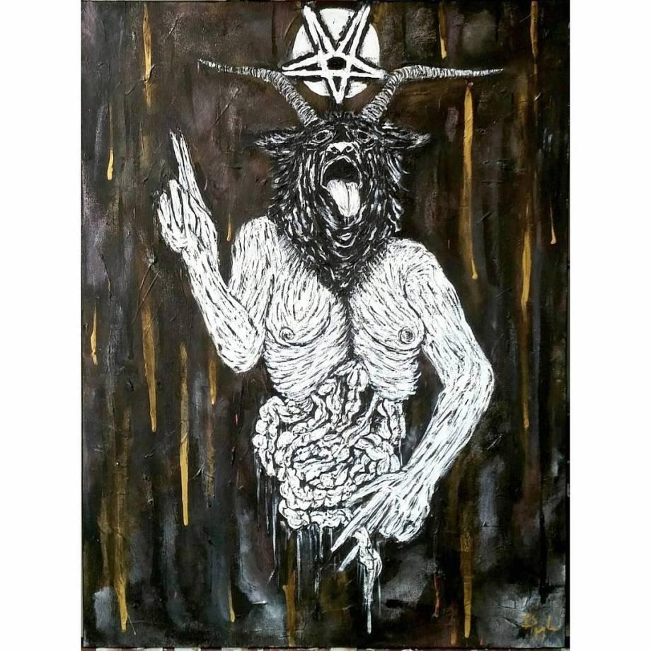 "Title Untitled Medium Acrylic On Canvas Size 24""x19"""