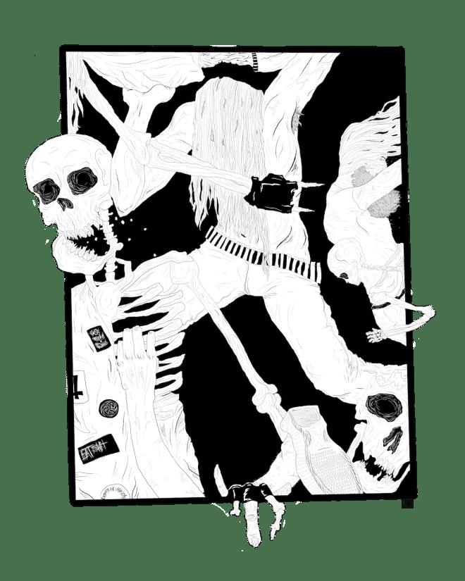 "Title Skeletal Mosh Pit Medium Digital Size 16""x19"""