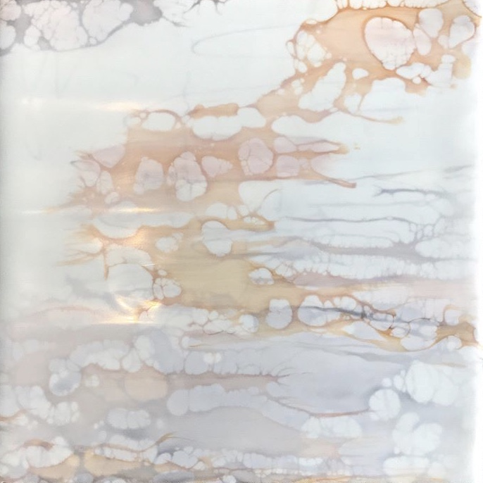 Title Tranquility Medium Encaustic with shellac and pastel Size 8 x 8
