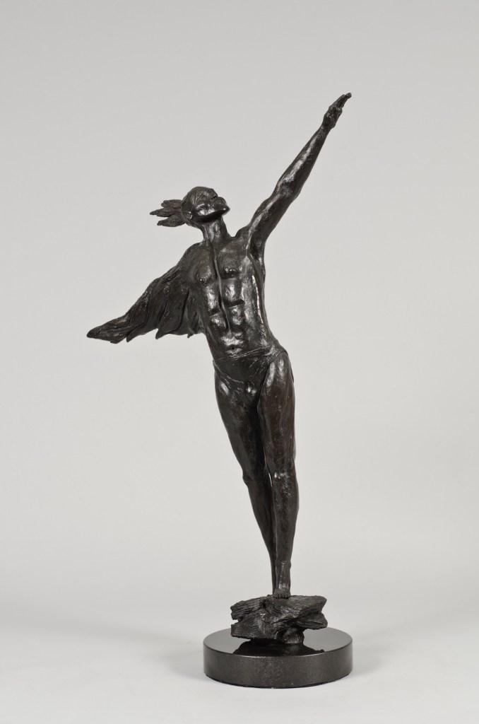 """Title Danseur Noblé Medium Bronze Size H 36"""", W 30"""" D 3"""""""