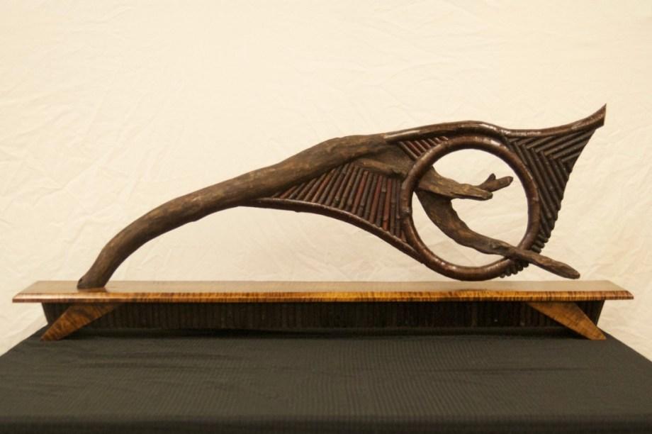 Title Velocity Medium Sculpture; Wood/Natural Materials Size 42 x 16 x 8