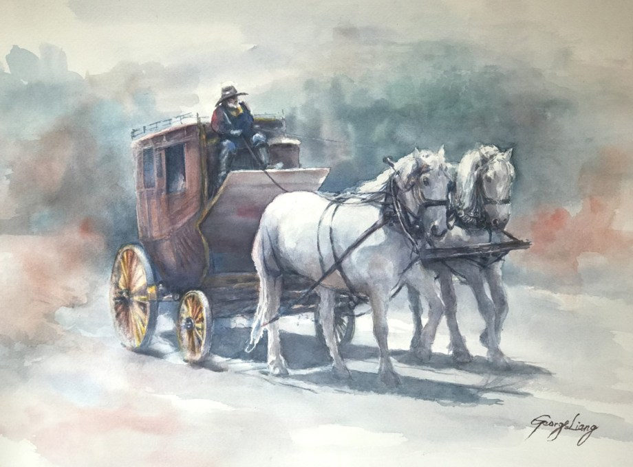 "Title To Tombstone Medium Watercolor Size 15"" x 22"""