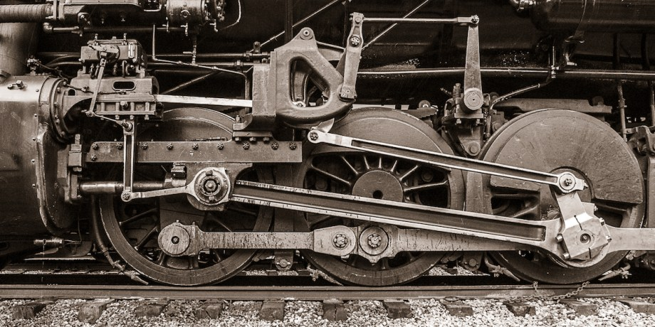 Title Rolling Power No. 6 - Homage to Charles Sheeler Medium Photograph on Aluminum Size 12x24