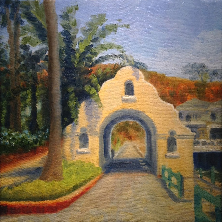 "Title Catalina, Via Casino Medium Oil Size 10""x10"""