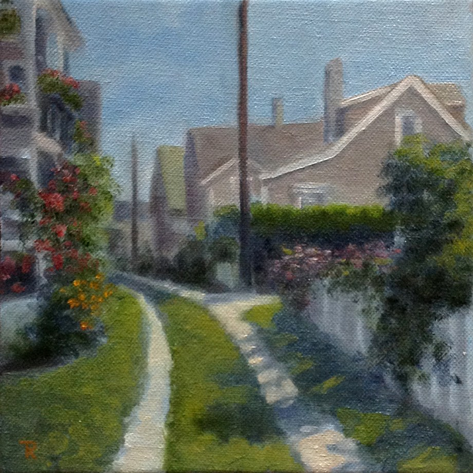 "Title Nantucket Walkway Medium Oil Size 8""x8"""