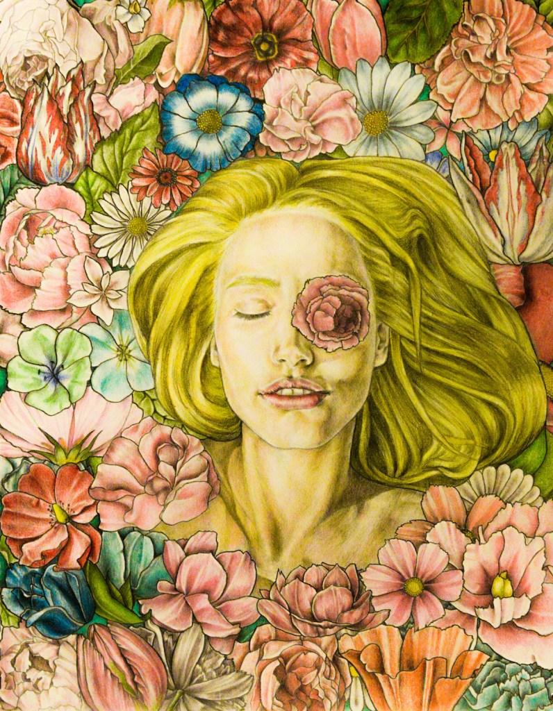 Title Summer Medium Graphite, color pencil, aquarelle on paper Size 420 x 598 mm