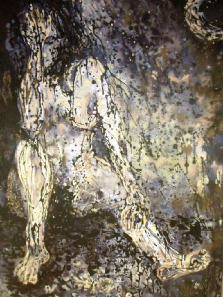 Title MiaCeleste Medium Acrylic on Canvas Size 4ft x 6ft