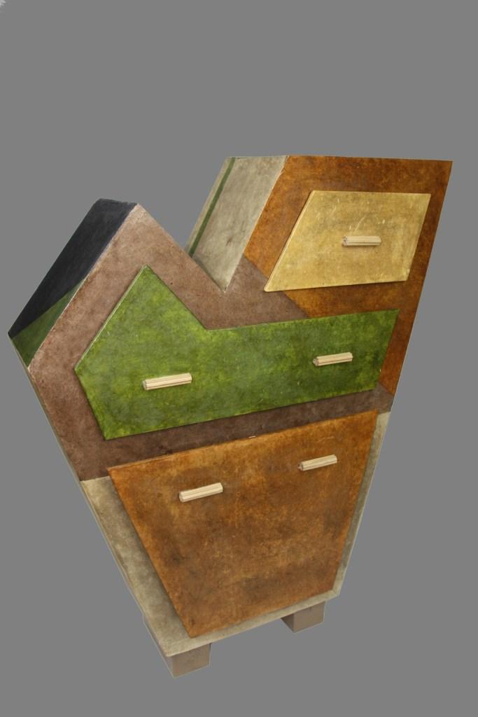 "Title Patchwork Console Medium Cardboard Size 43""x34""x10"""