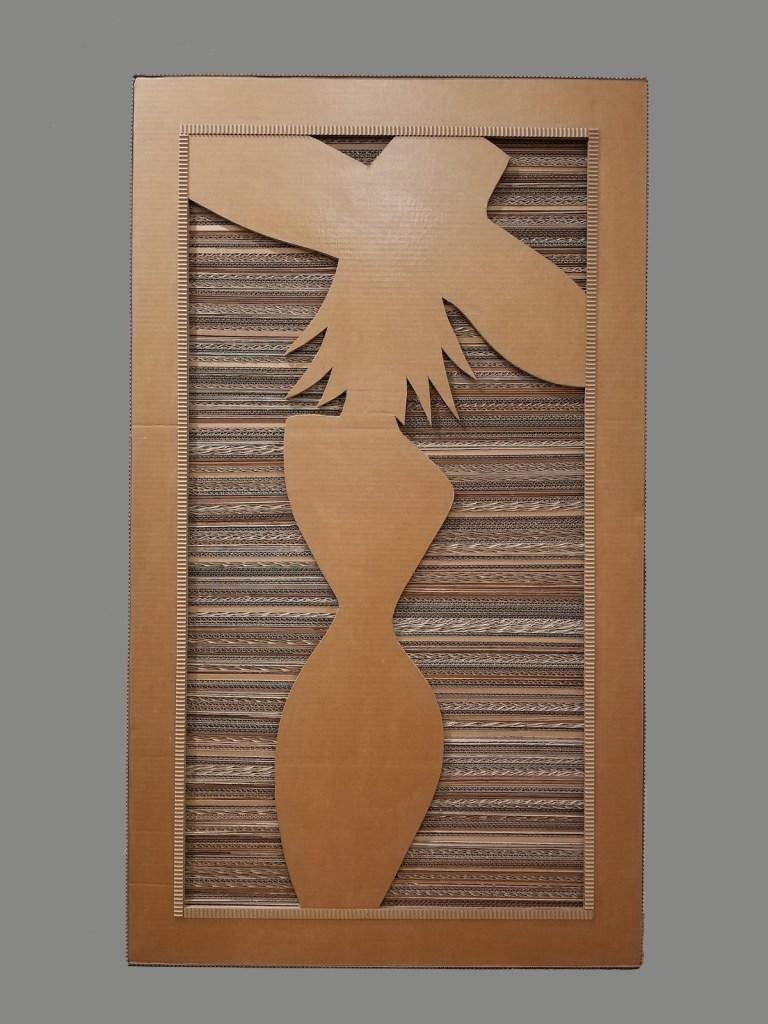 "Title Cardboard Silhouette Medium cardboard Size 54""x32"""