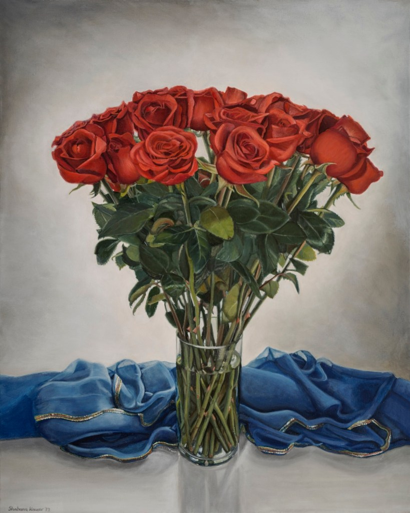 Title British Rose Medium Oil Size 20x30
