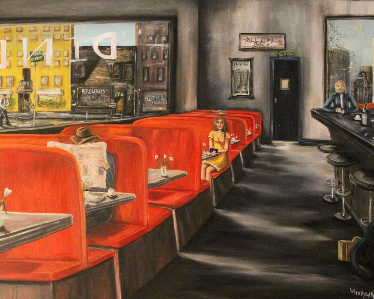 "Title Same DIner, Every Tues. Medium Oil Size 30""x40"""