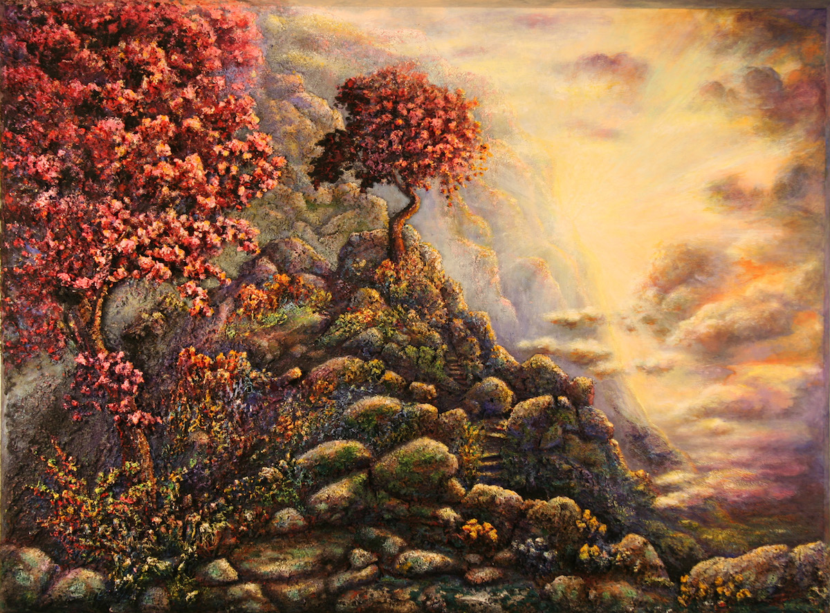 Title Stairway to Purgatory Medium Acrylic Size 40'x54'