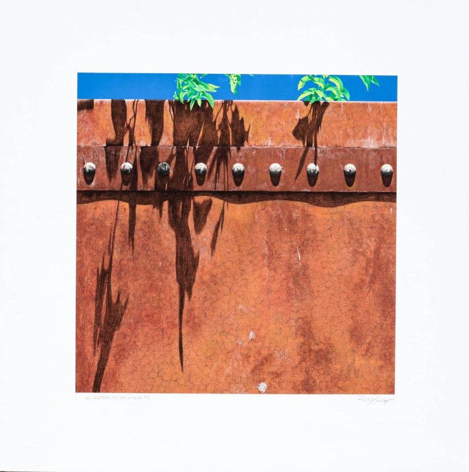 """Title Las Paredes de San Miguel #3 Medium acrylic and pencil Size 42""""x 42"""""""