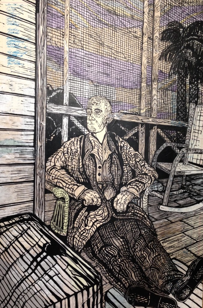 Title Duke Franklin Creech, 1890 - 1978 Medium Woodblock Print/ Altered Proof Size 24 inches wide x 36 inches high