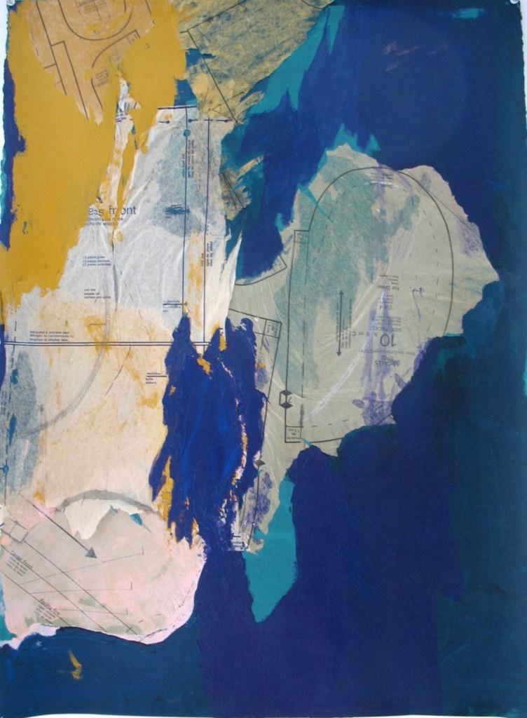 "Title Urban Flesh Medium collage on paper Size 30""x20"""