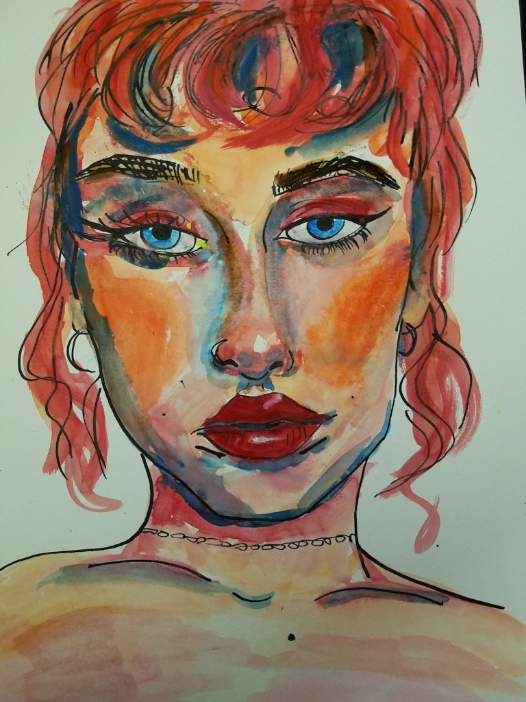 Title Eve Medium Watercolor and Indian ink Size 12x14