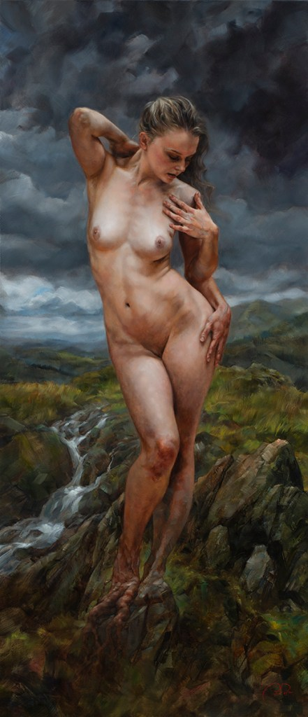 "Title Birth of the Muse - the Highlands Medium Oil on linen Size 26""x 60"""