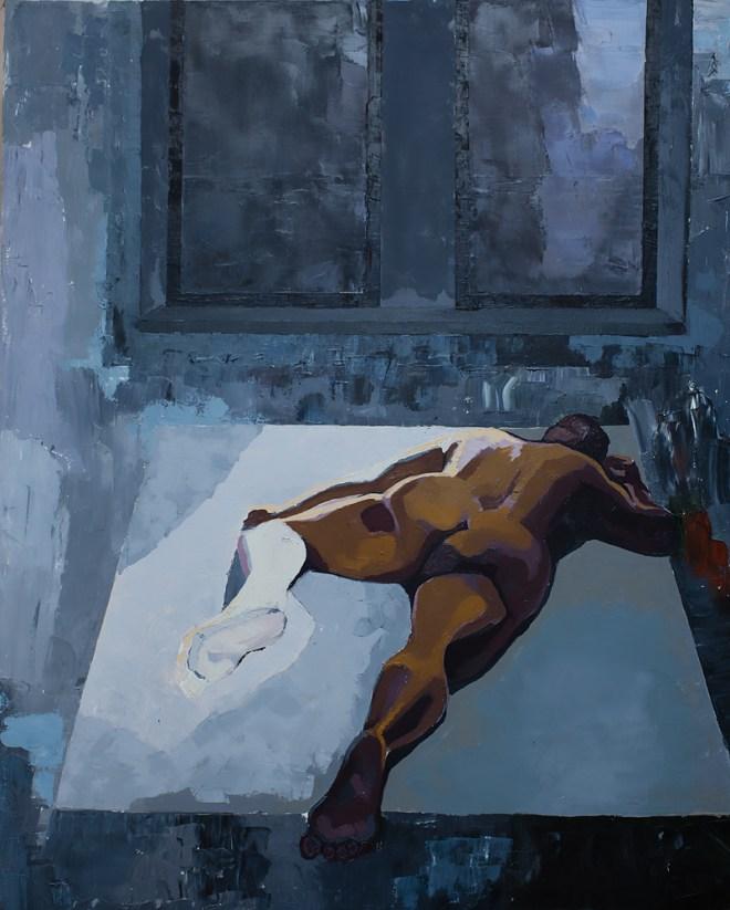 Title Nude #4 Medium Oil on Canvas Size 60x48