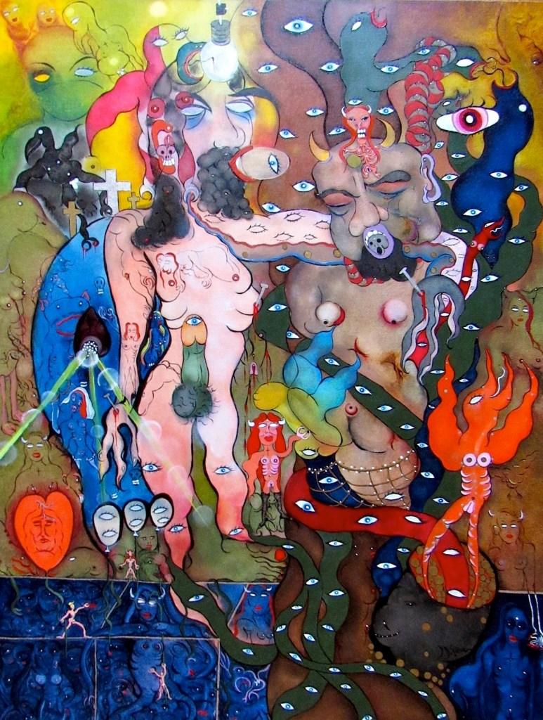 Title .LA TRAHISON DE JUDAS (The betrayal of Jesus by Judas)(2018) Medium Oil on Canvas Size 30 X 40 inches