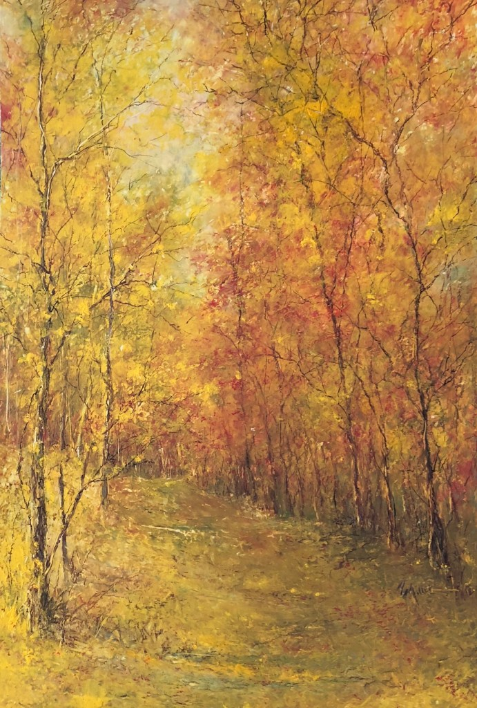 Title Autumn Beauty Medium Oil Pastel Size 19x14""