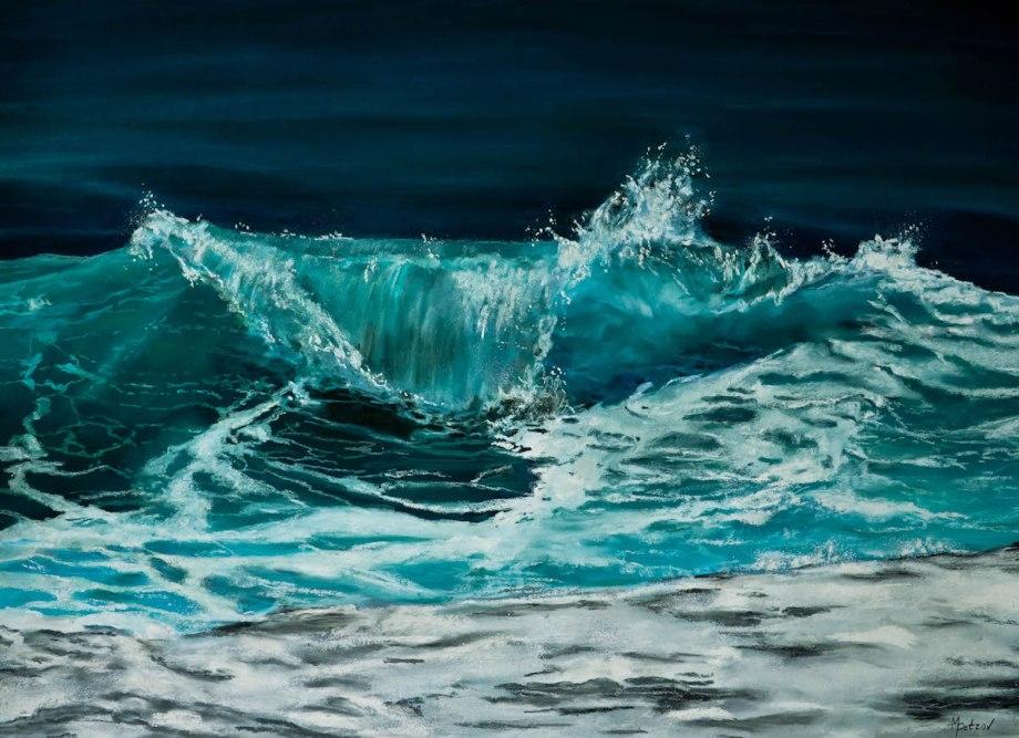 Title Breaking Blue Medium Soft pastels on paper Size 20x30
