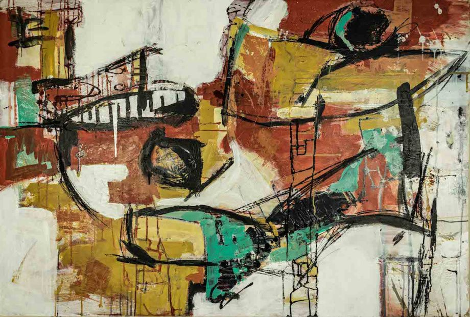 Title Untitled 3 Medium Mixed media on wood panel Size 48in x 32.5in