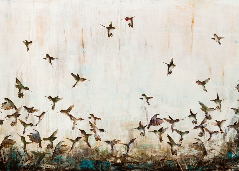Free Wings Medium Oil on Panel Size 54x84""