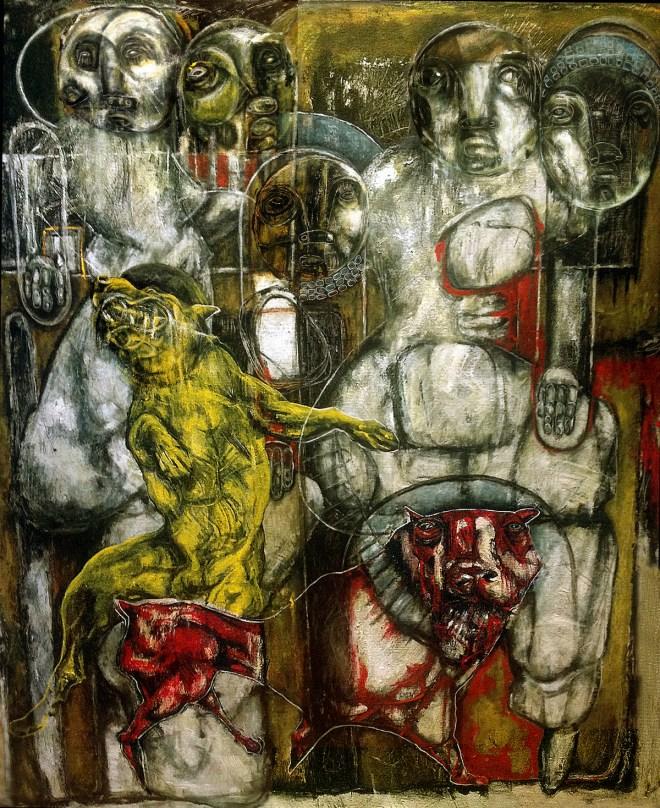 The Choir Medium Acrylic on canvas Size 120x100cm