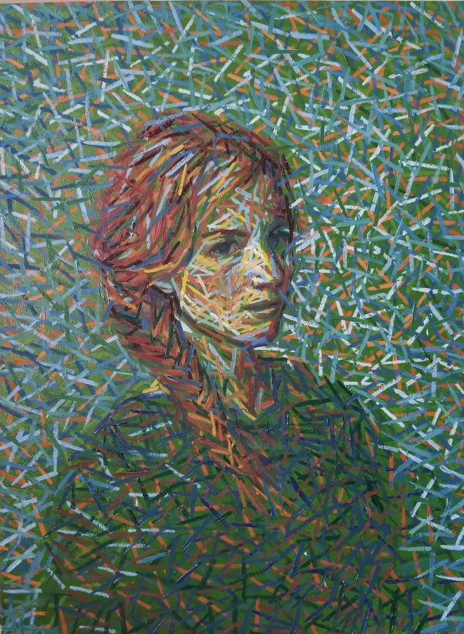 Untitled (DIV 032) Medium Oil on Canvas Size 24 x 18 x 1.0 in