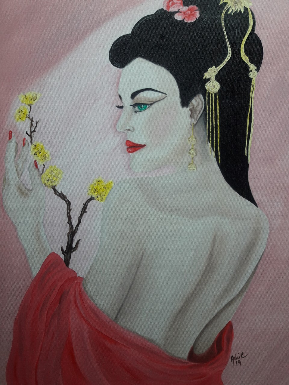 Enchanted by her looks Medium Oil on canvas Size 18x24