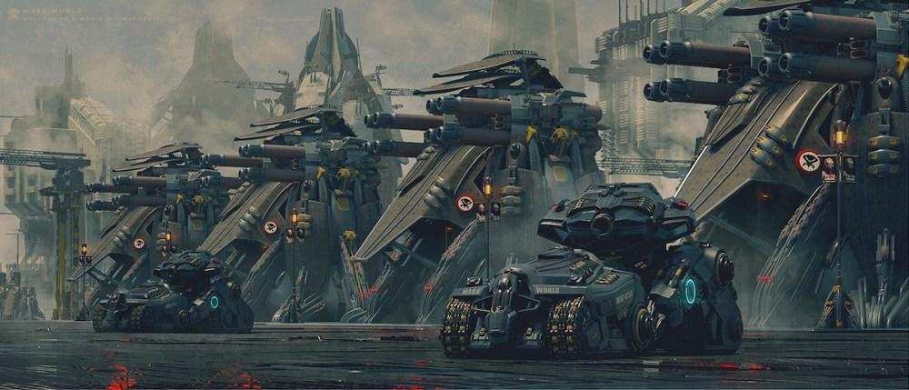 Tank and Heavy Cannon Medium Digital Art Size 1500×643