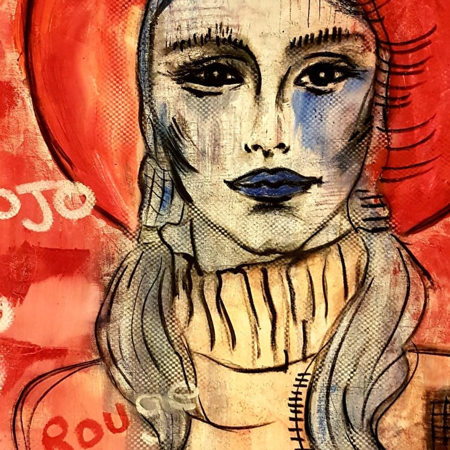 Chapeau Rouge Medium canvas Size 140 cm x 120cm