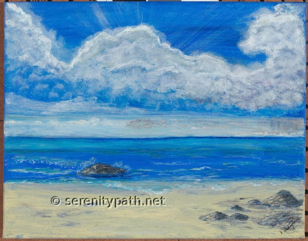 """Playa de Carmen"" Medium Acrylic Size 16x20"