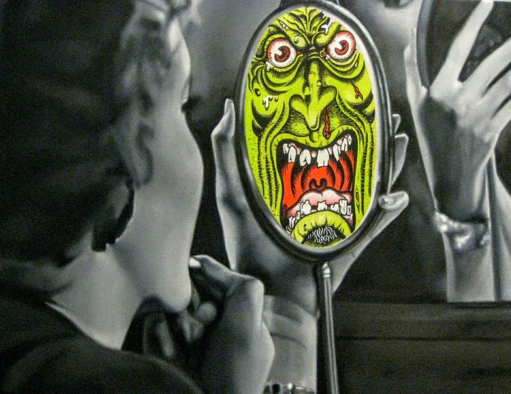 "Mirror, Mirror Medium Oil on canvas Size 30""x48"""